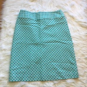 🆕 Talbots Blue and White Skirt-Size 8
